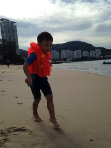 beach penang kids holiday