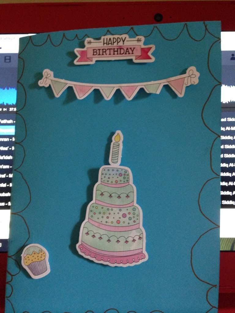 autistic child art birthday card